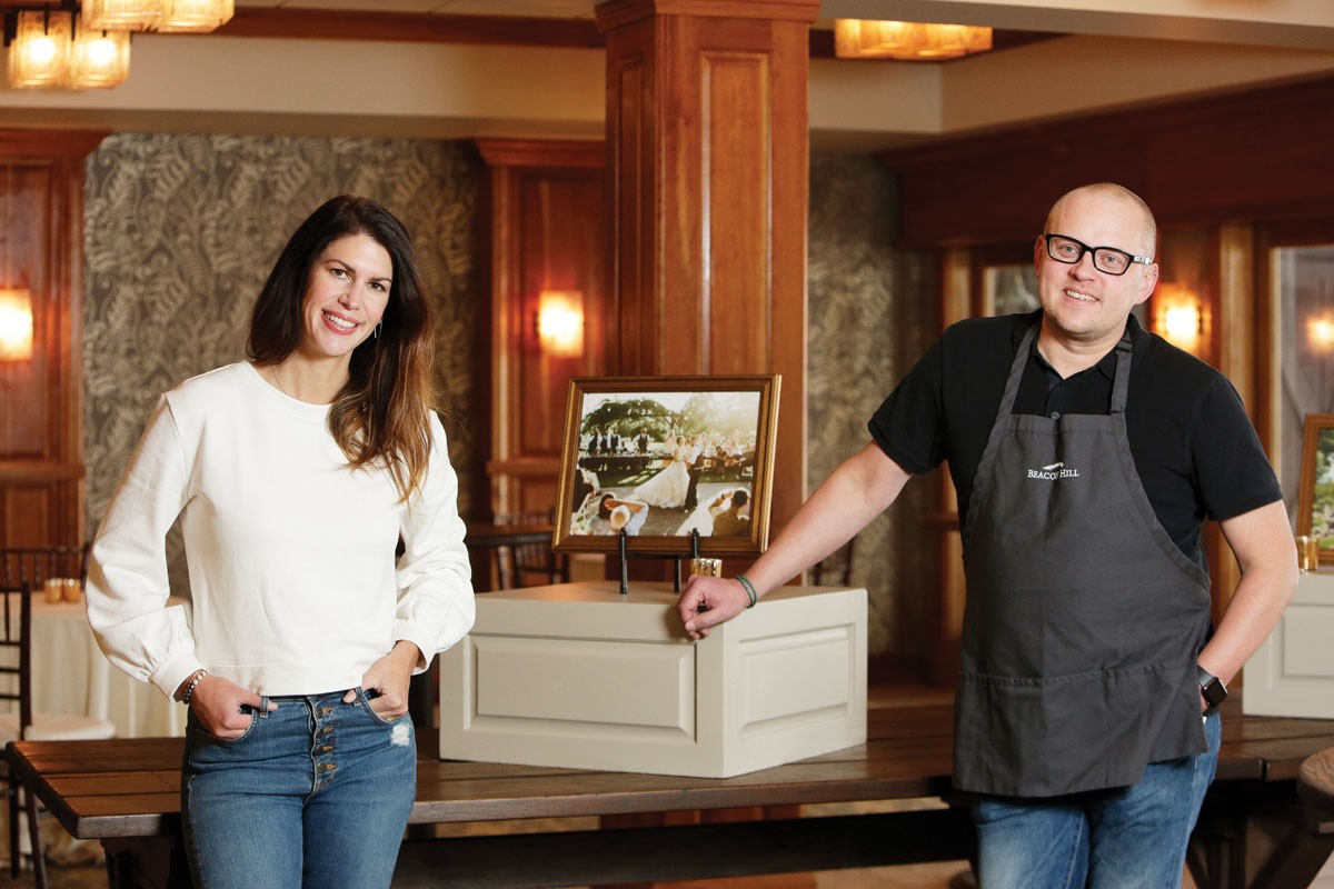 Responding to the pandemic, Beacon Hill'sEllie AaroandRyan Jordanretooled their thriving event-based catering company to deliver family-style meals to a new group of customers. - YOUNG KWAK PHOTO