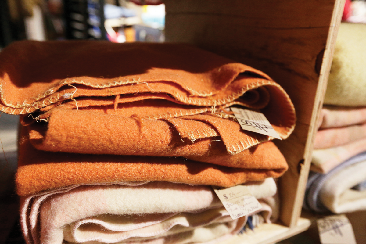 """The """"cutting section"""" at Boulevard Mercantile offers an ever-changing selection of unique fabrics for DIYers. - YOUNG KWAK PHOTO"""