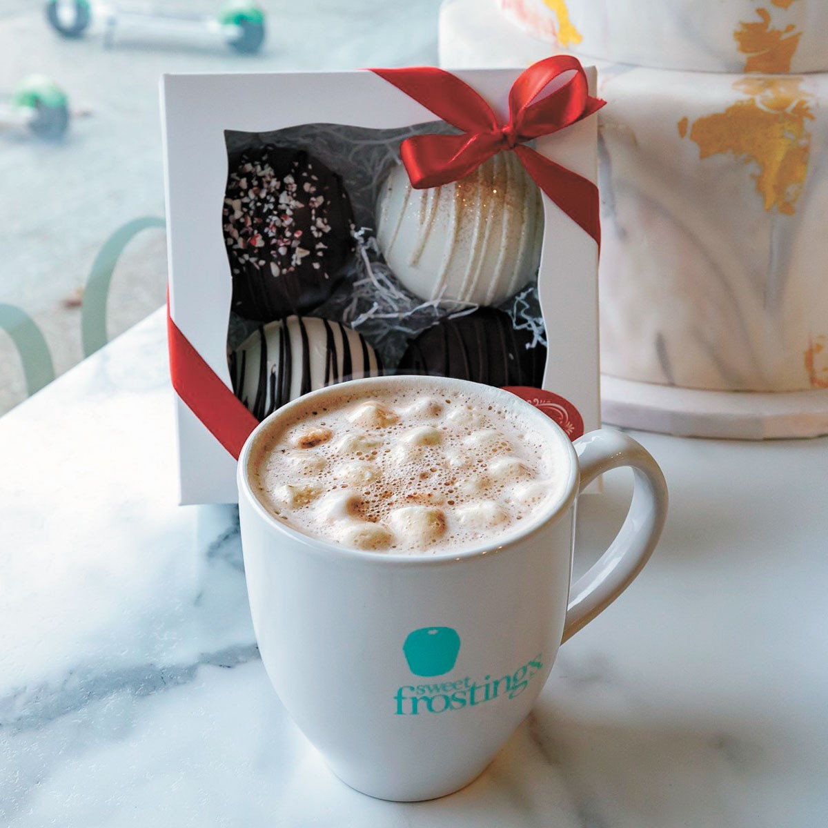 Hot cocoa bombs are hitting the region. - COURTESY OF SWEET FROSTINGS