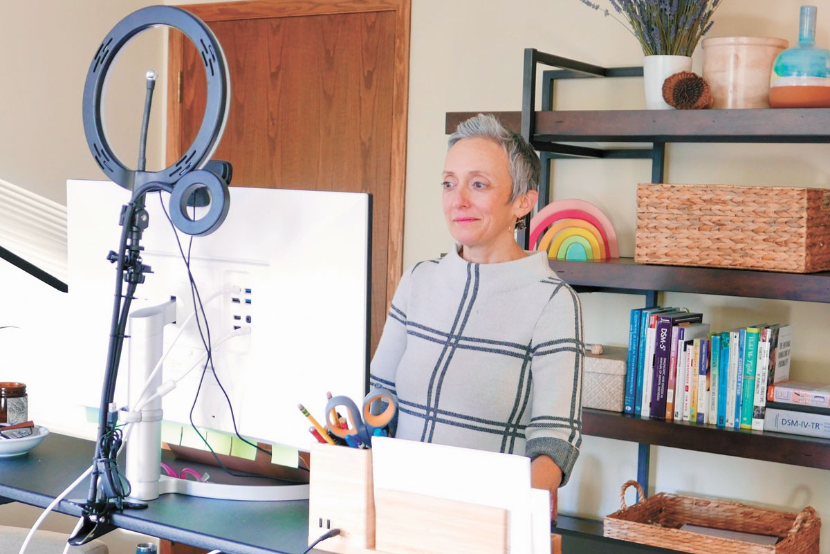 Meg Curtin Rey-Bear, a licensed mental health therapist, opened Wellness Therapies mental health clinic last year. - COURTESY OF MEG CURTIN REY-BEAR