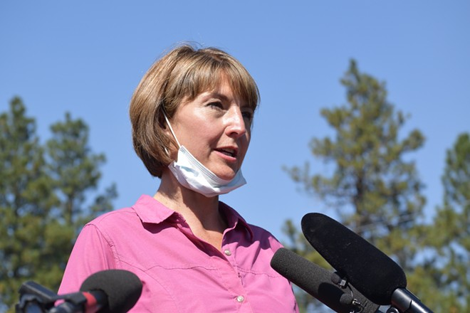 Time to take off the gloves when it comes to challenging U.S. Rep. Cathy McMorris Rodgers. - WILSON CRISCIONE PHOTO