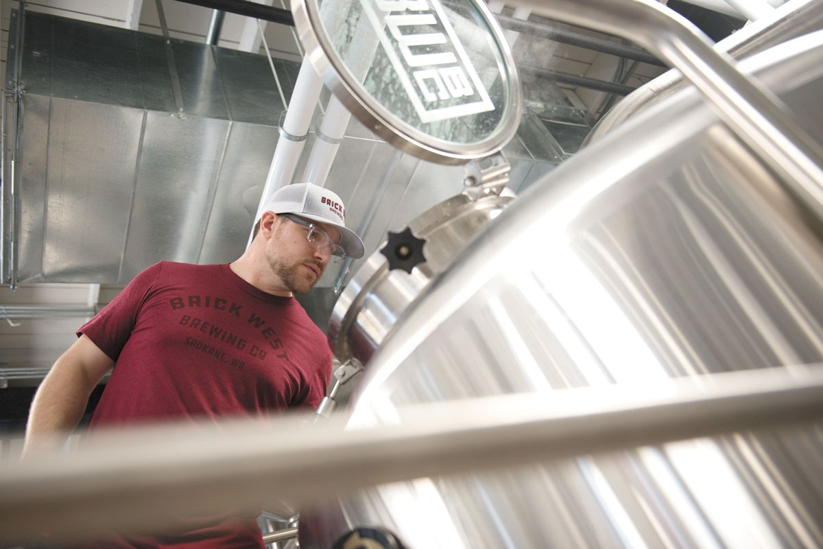 Brick West Brewing Co.'s head brewer Sam Milne. - DEREK HARRISON PHOTO