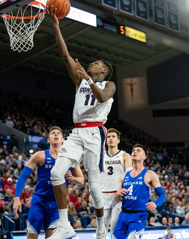 Joel Ayayi and the Zags are hitting a soft patch in their schedule. - ERICK DOXEY