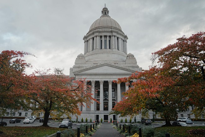 The Washington State Capitol Building, also known as the Legislative Building, Oct. 21, 2020, in Olympia. - JOVELLE TAMAYO FOR CROSSCUT
