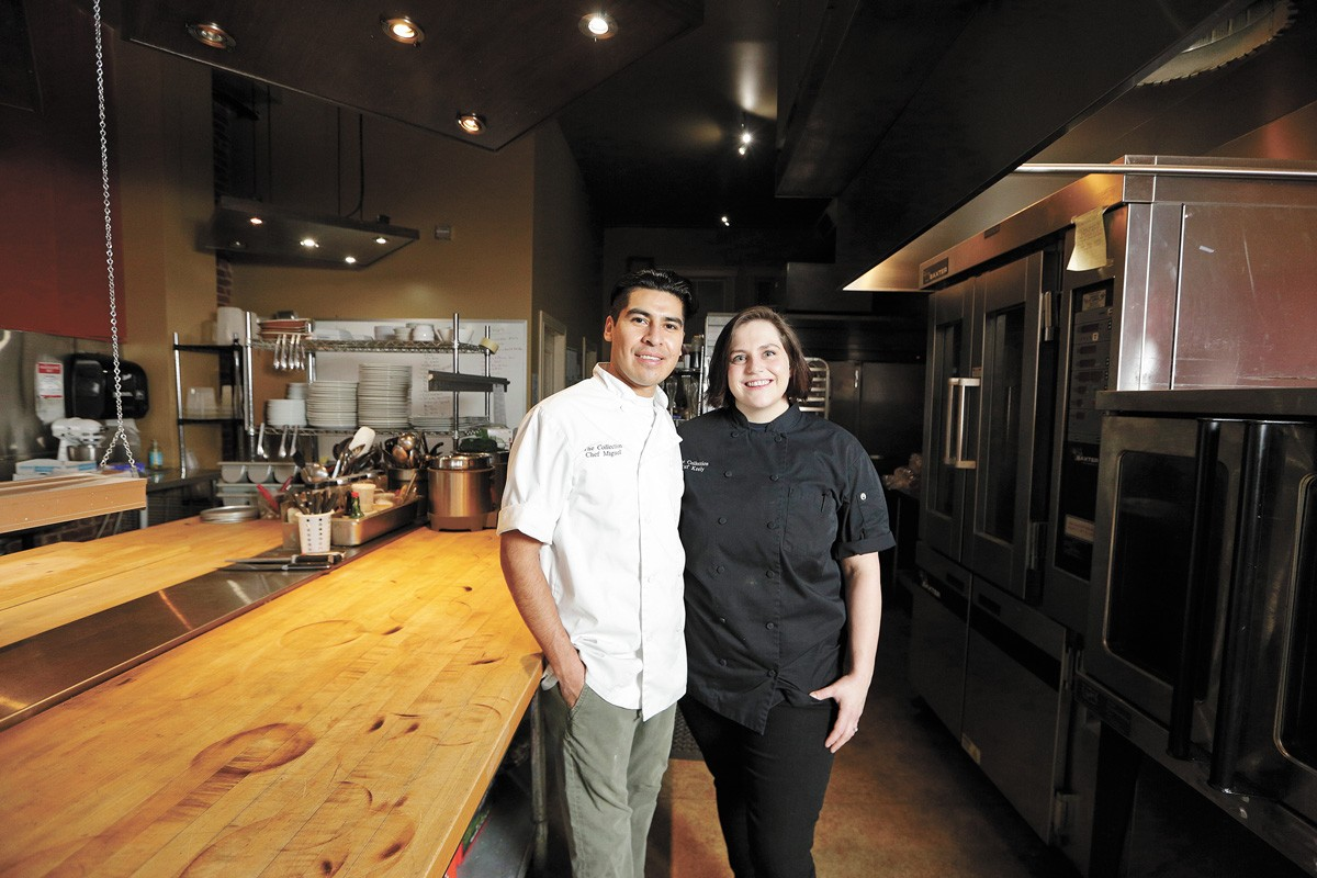 The Collection Bakery owners Miguel (left) and Keely Silva-Glenn at 180 Bar & Bistro where they use the kitchen to bake. - YOUNG KWAK PHOTO