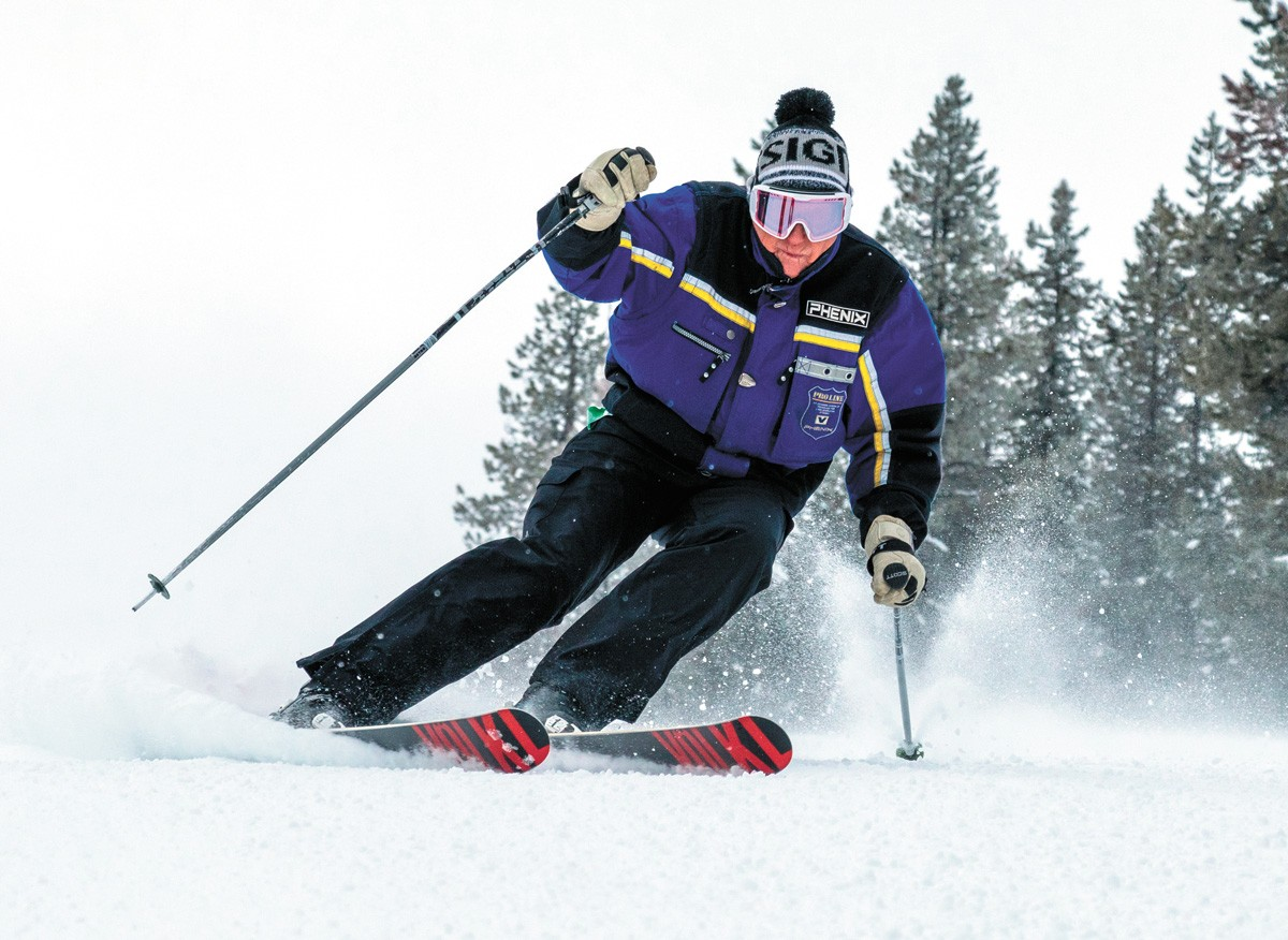 Gerry FitzGerald can be found most every weekend skiing at Lookout Pass. - BOB LEGASA PHOTO