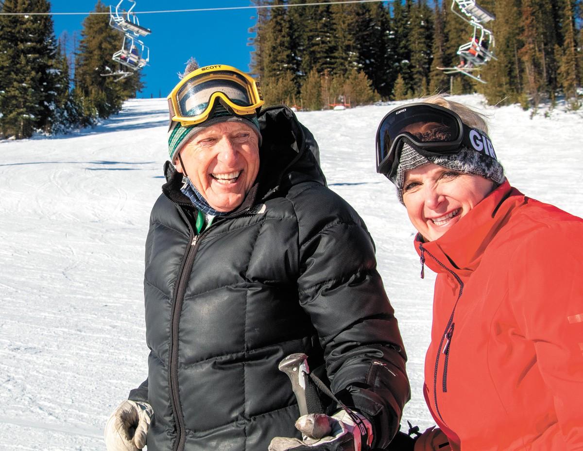 Gerry and his daughter Jennifer at Lookout Pass. - BOB LEGASA PHOTO