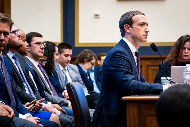 Facebook CEO, Mark Zuckerberg, testifies before the House Financial Services Committee on Capitol Hill in Washington, on Wednesday, Oct. 23, 2019. - PETE MAROVICH/THE NEW YORK TIMES