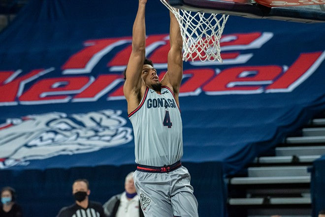 """The Zags have been dunking on fools all season, and by """"fools"""" we mean everyone else in the WCC. - ERICK DOXEY"""