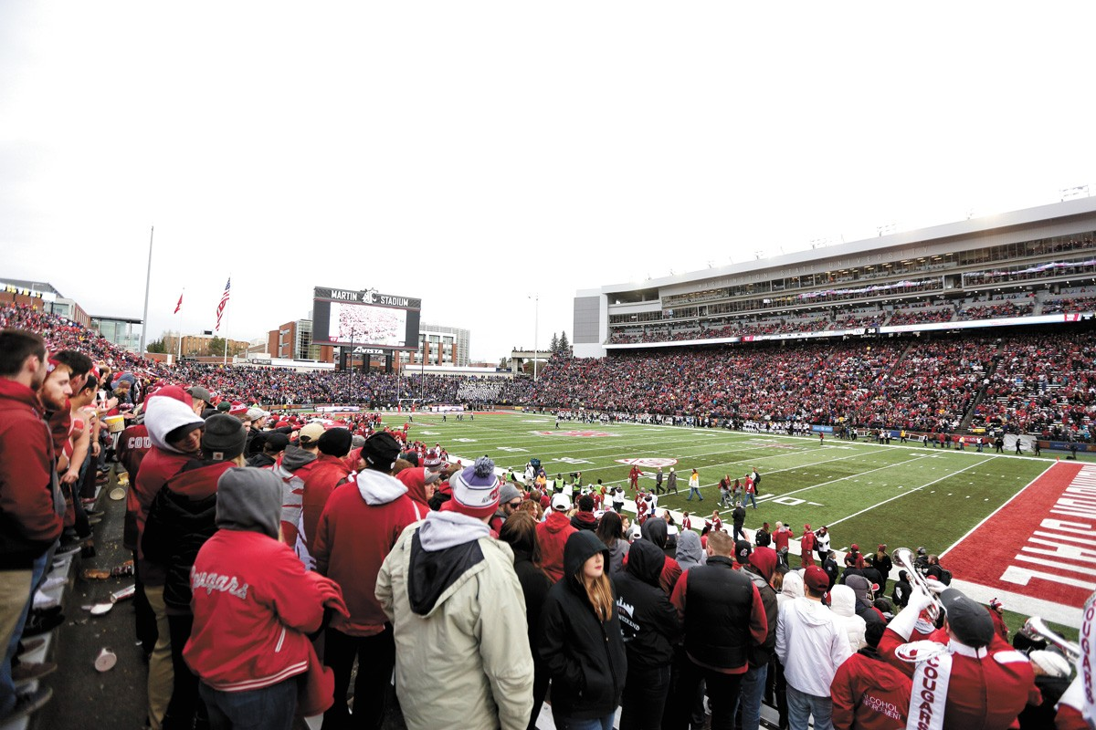 WSU's Martin Stadium, back when people — not cardboard cutouts — filled the stands. - YOUNG KWAK PHOTO