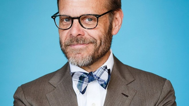 Alton Brown likes to play with his food.