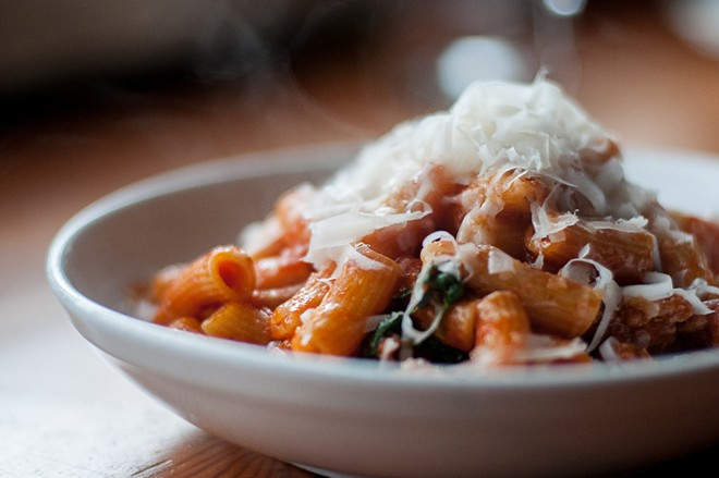 Spokane diners can soon enjoy Tavolata's best selling pasta dish: rigatoni with spicy sausage, tomato, marjoram and Parmigiano-Reggiano. - COURTESY OF ETHAN STOWELL RESTAURANTS
