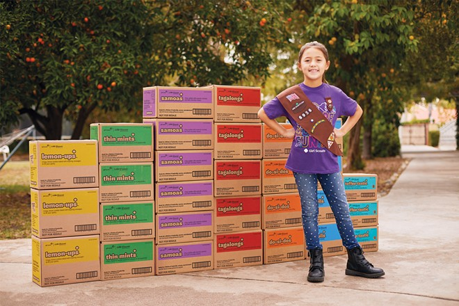 In-person Girl Scout Cookie sales start locally on March 26. - COURTESY GIRL SCOUTS