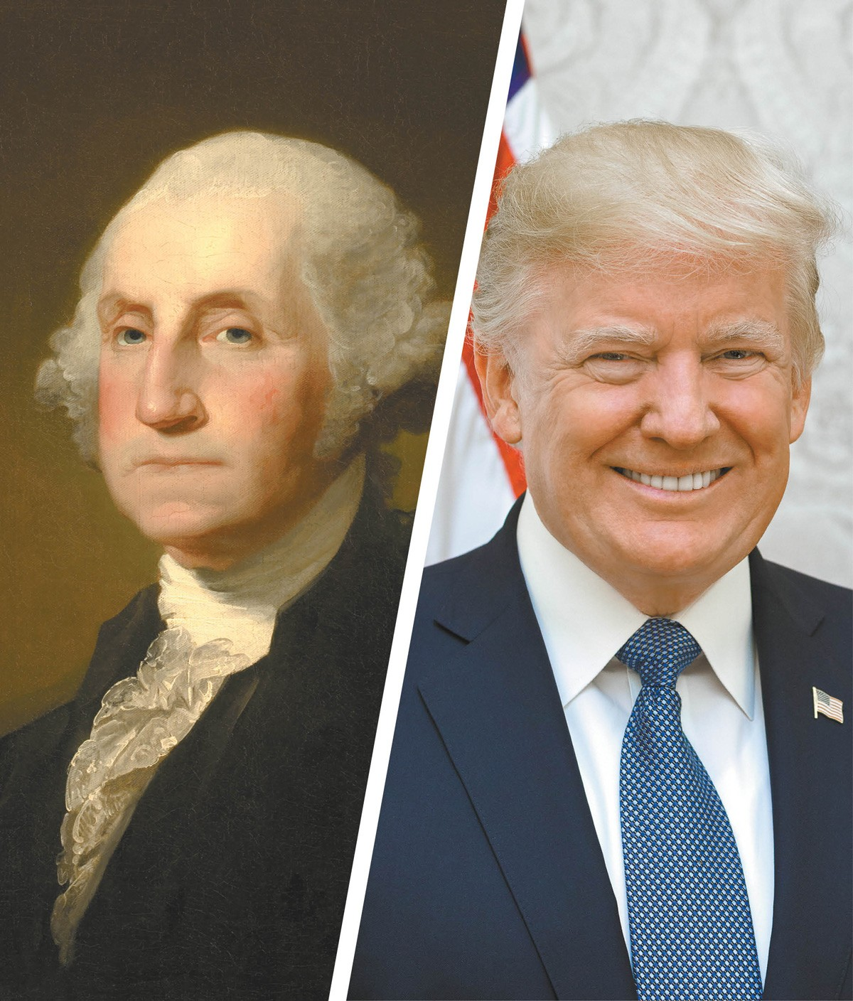 George Washington helped to defuse a potential uprising against Congress while Donald Trump stoked one.