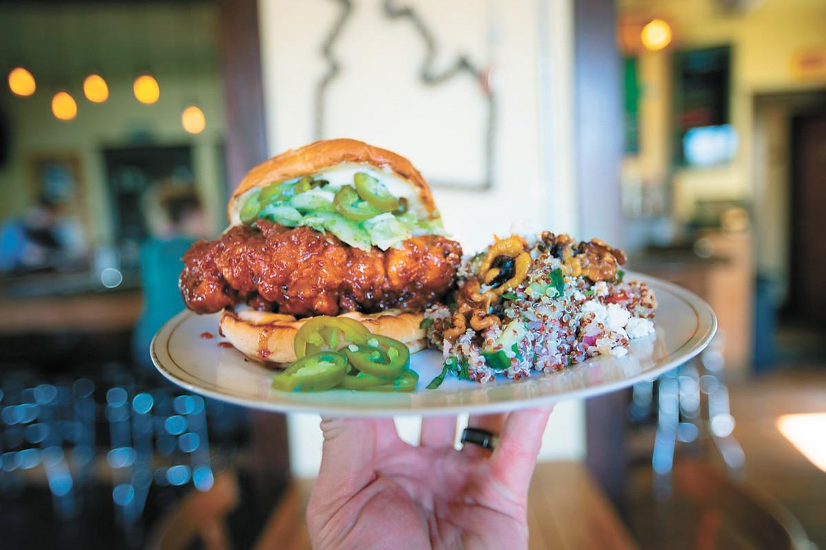 Republic Kitchen + Taphouse's chicken sandwich.
