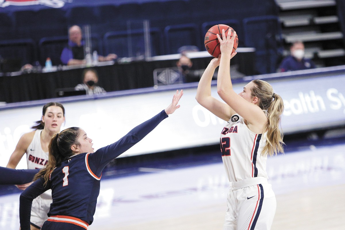 Gonzaga's women landed a 5 seed in the tournament. - YOUNG KWAK PHOTO