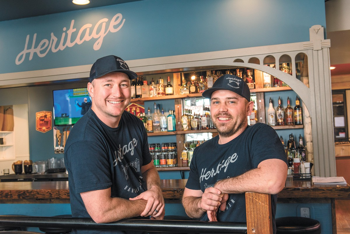 Heritage owners Gabe Wood (left) and Alex King.