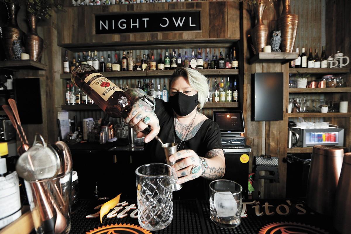 Bartender Stephanie Goldsmith at Night Owl - YOUNG KWAK PHOTO