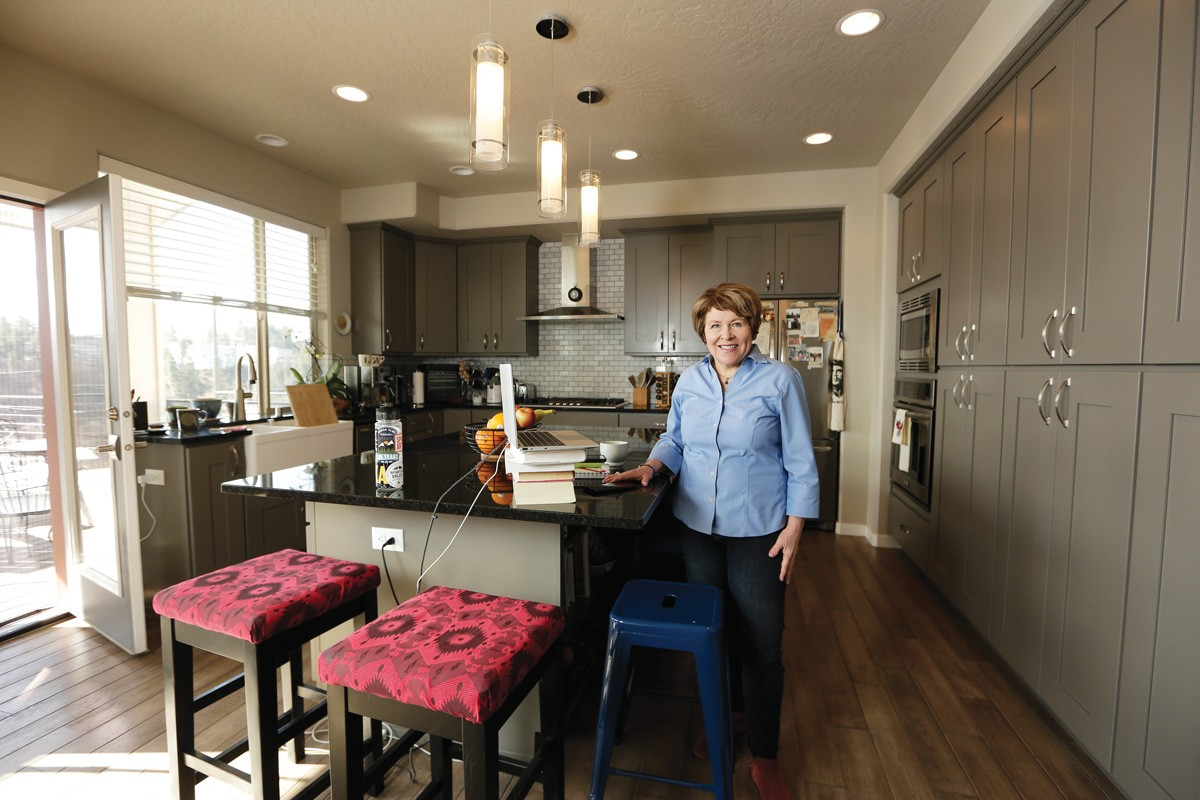 Working from her home in Kendall Yards during the pandemic, Lisa Brown has tackledWashington state's economy, and in her spare time perfected baking sourdough bread. - YOUNG KWAK PHOTO