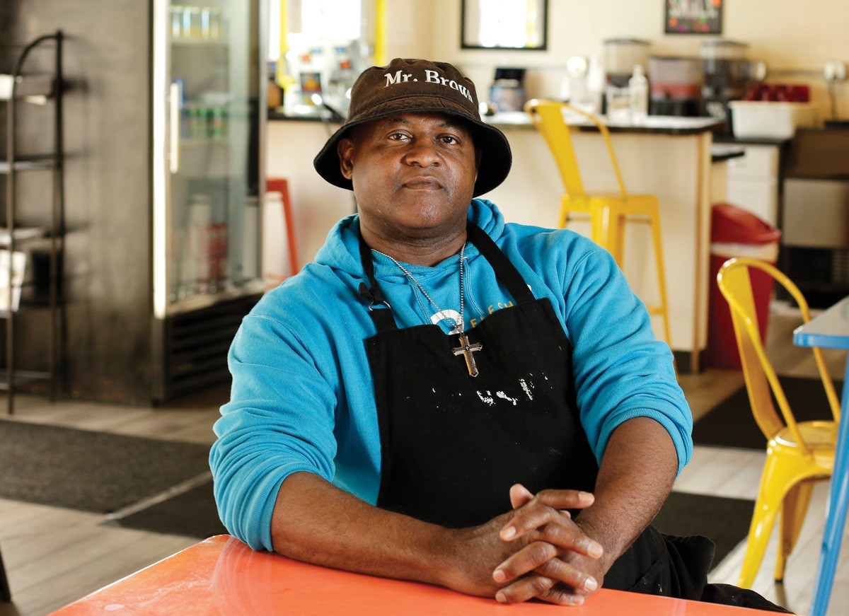 Michael Brown creates sought-after Southern specialties at Spokane's Fresh Soul, while his team of teens learns food industry and life skills working in the restaurant. - YOUNG KWAK PHOTO