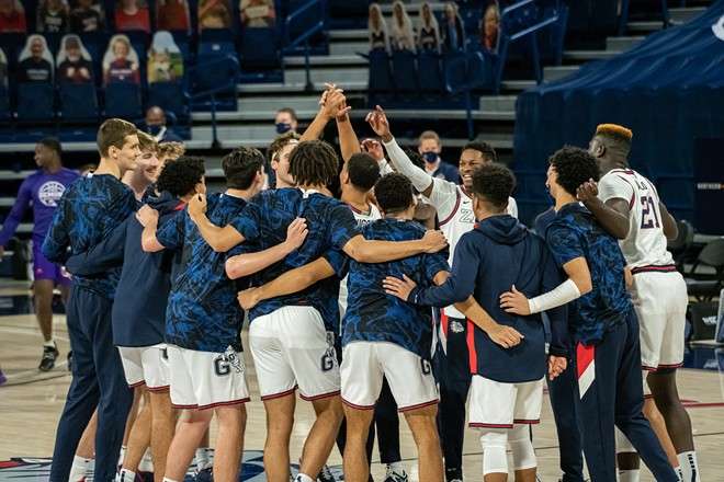 The Zags' season ended in heartbreak Monday night. - ERICK DOXEY