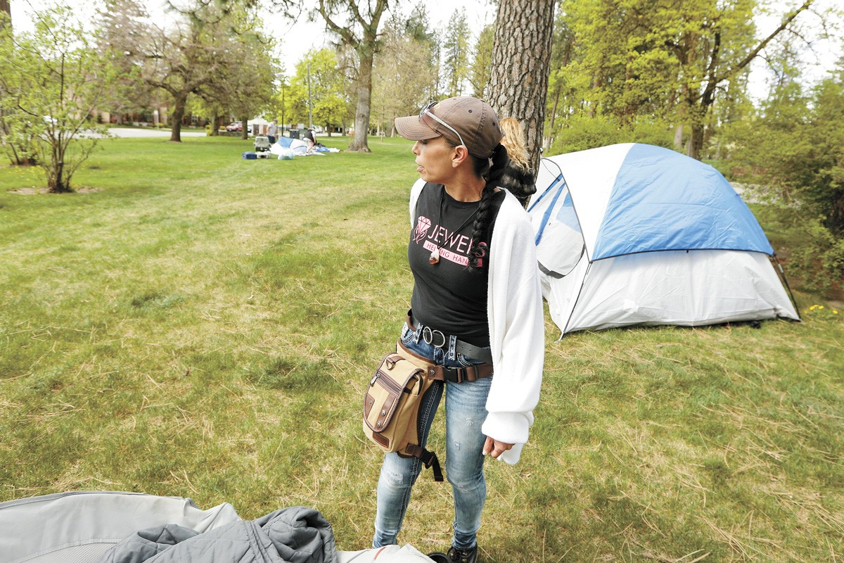 Jewels Helping Hands co-founder Julie Garcia has ardent supporters like progressive activist Sharon Smith, yet Garcia has quickly become one of the most controversial names in the homeless outreach community. - YOUNG KWAK PHOTO