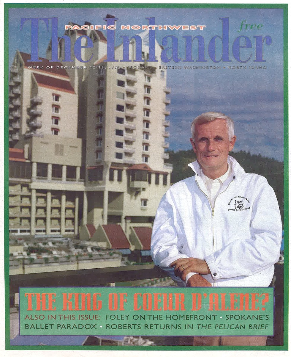 Cover of the Dec. 22, 1993, issue of the Inlander. - BRAD HAGADONE PHOTO