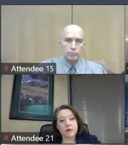 Dr. Bob Lutz (top) was fired as health officer for Spokane Regional Health District Thursday, Nov. 5, after district administrator Amelia Clark (bottom) asked the health board to fire him due to issues between them as leaders of the organization. The state Board of Health could determine whether actions Clark took before that meeting broke state law.