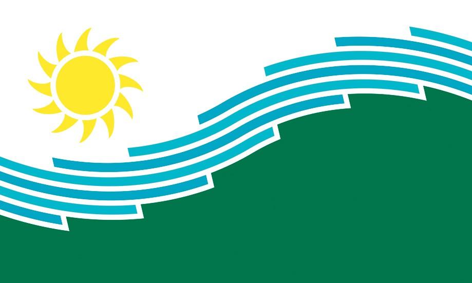Spokane's new flag designed by Derek Landers.
