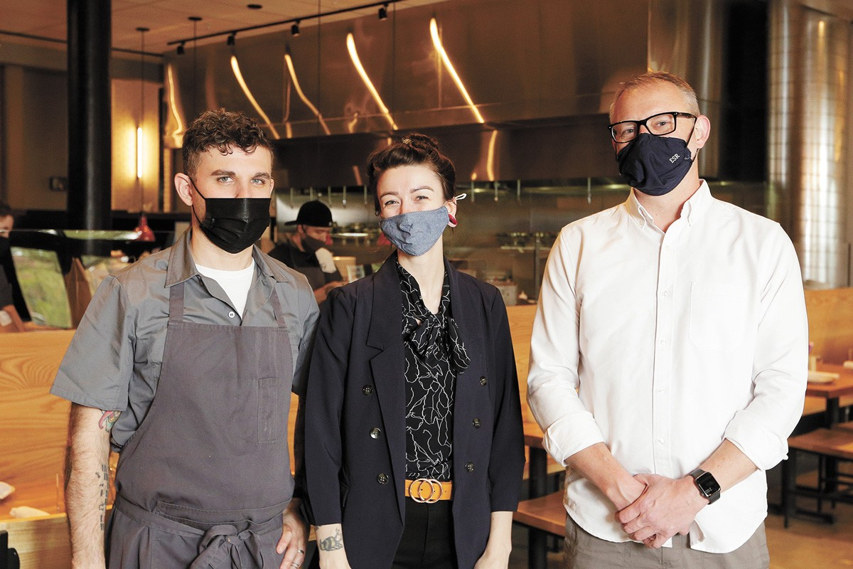 FROM LEFT: Executive Chef Scott Siff, General Manager Tania Siff and owner Ethan Stowell. - YOUNG KWAK PHOTO