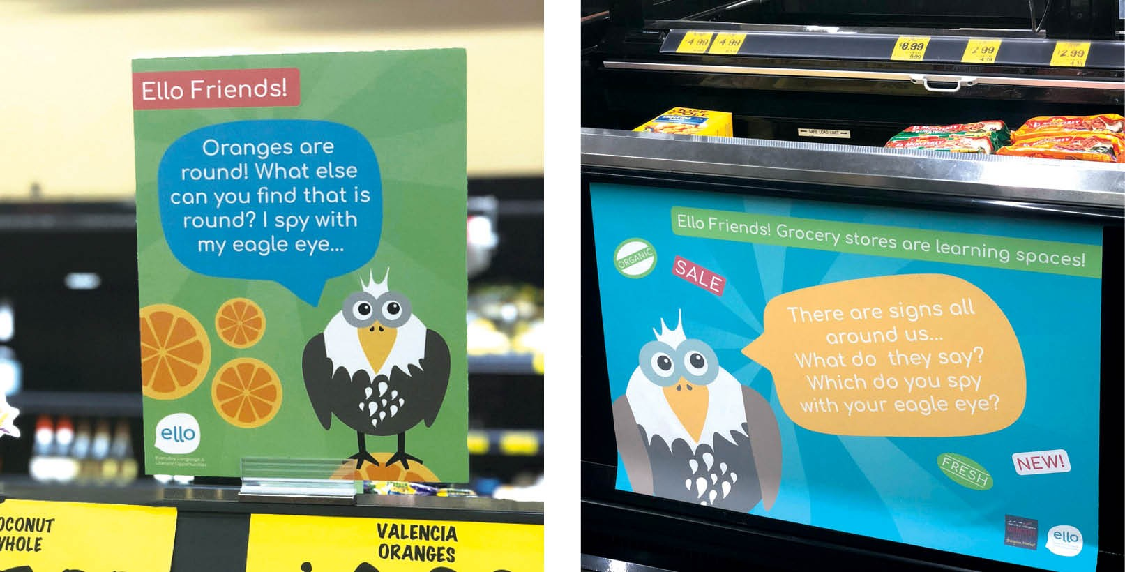 Students from EWU's Visual Communication Design program provided the graphics for the ELLO pilot program in the Airway Heights Grocery Outlet store. - ELLO PHOTOS