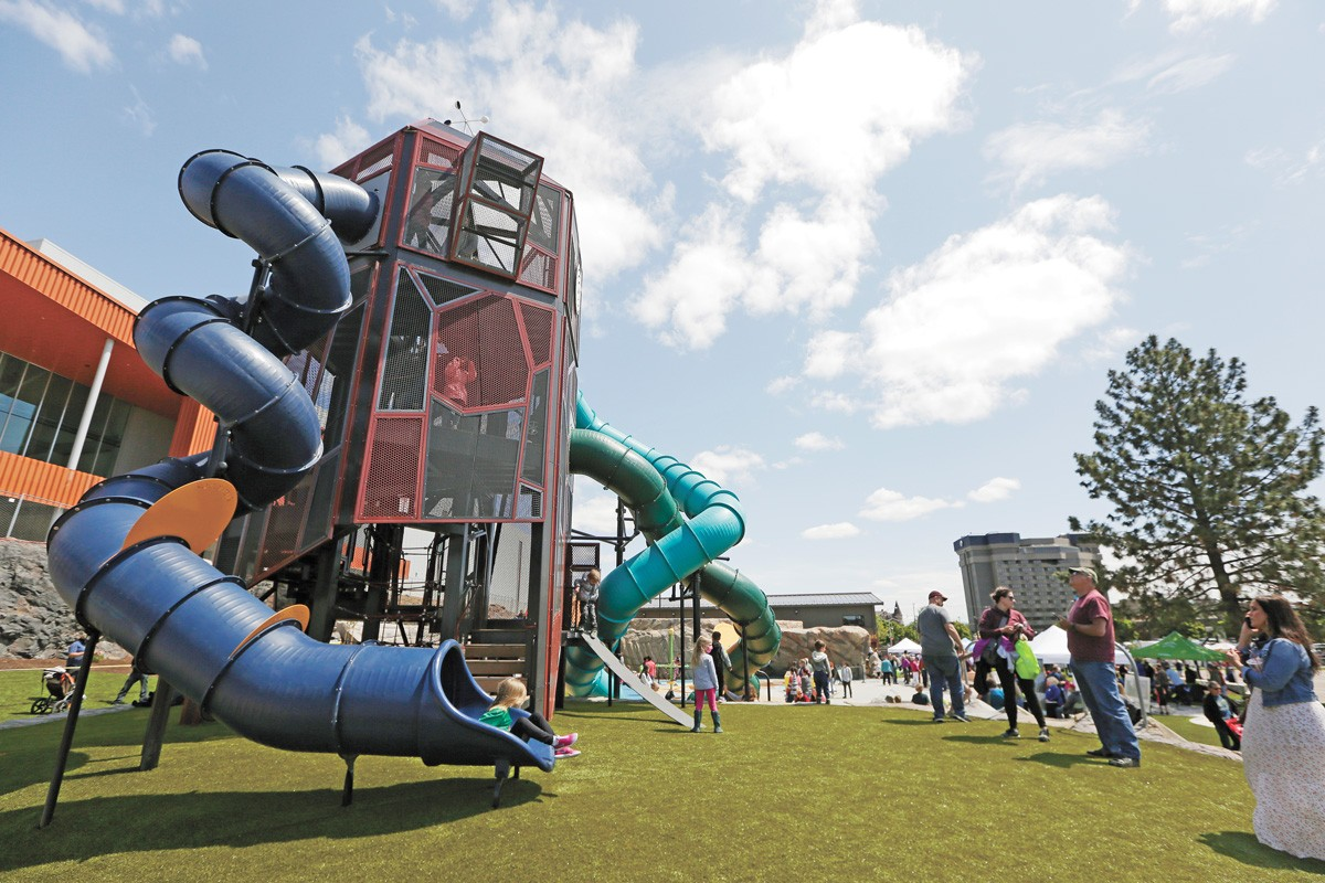Riverfront Park's North Bank is now a one-stop activity complex. - YOUNG KWAK PHOTO