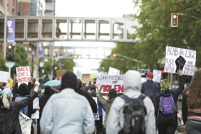 In cases of protests involving property destruction or violence, Josiah Roloff says the government might dig through a suspect's computer data to see whether they were expecting a peaceful protest or not. - YOUNG KWAK PHOTO