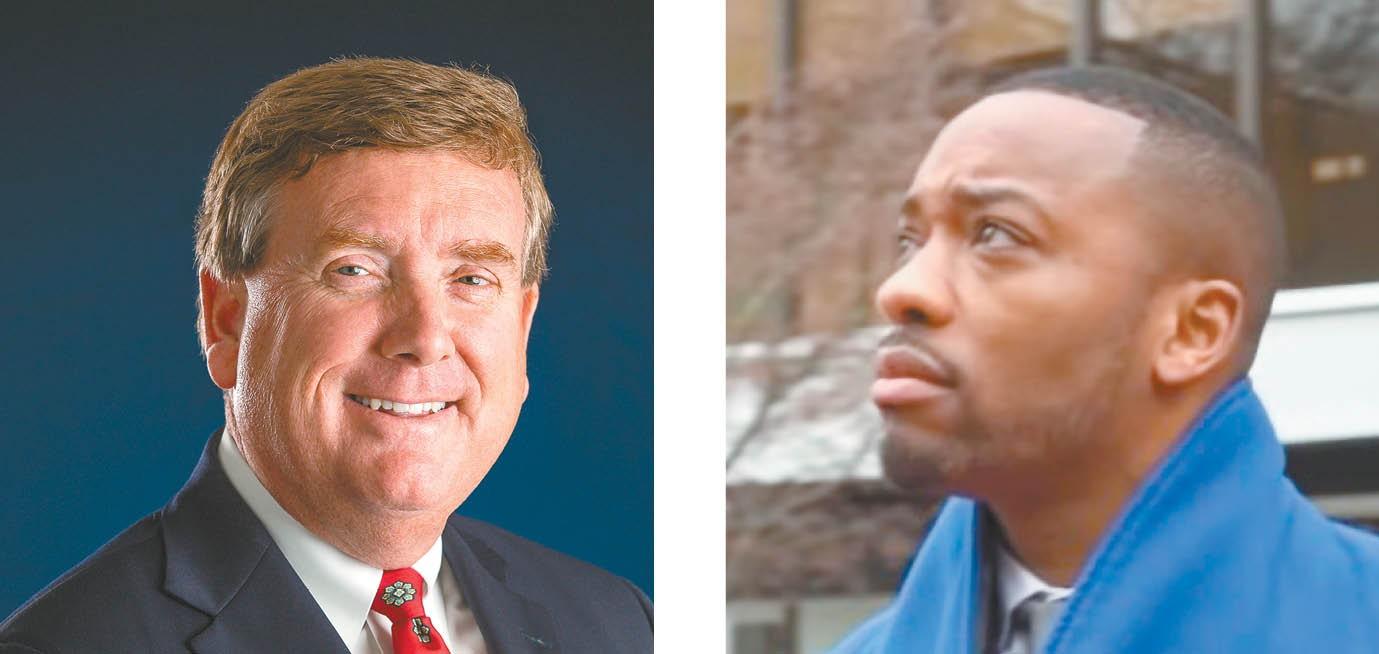 City Administrator Johnnie Perkins, left, and Cupid Alexander, neighborhood services director.
