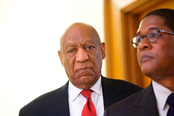 Bill Cosby reacts while being notified of a verdict in his retrial on sexual assault charges at the Montgomery County Courthouse in Norristown, Pa., April 26, 2018. - MARK MAKELA/POOL VIA THE NEW YORK TIMES
