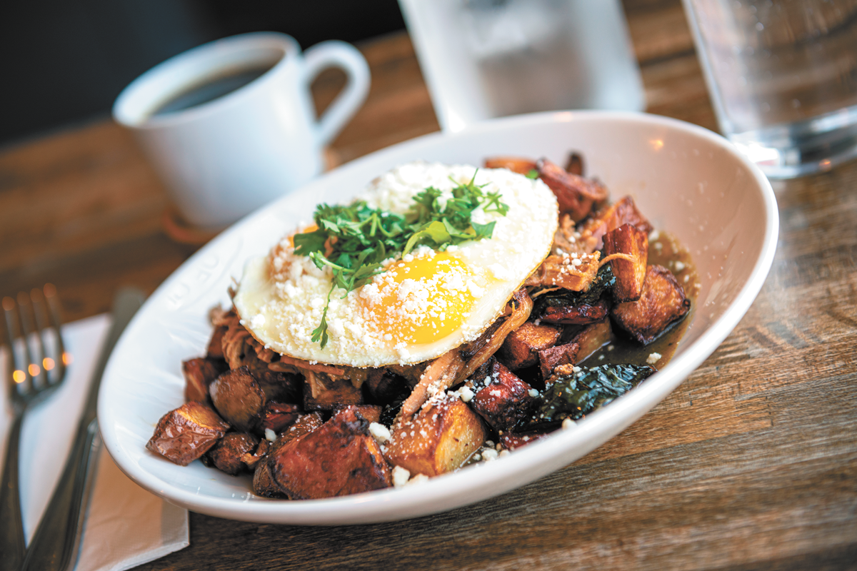 At Bruncheonette, food is made from scratch as much as possible, including this verde hash. - ERICK DOXEY PHOTO