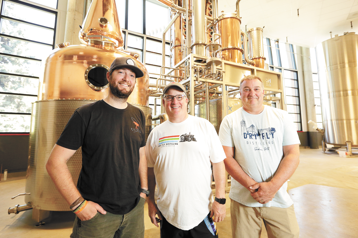 FROM LEFT: Dry Fly's Vice President of Operations Patrick Donovan, President Don Poffenroth and Vice President of Sales and Marketing Terry Nichols. - YOUNG KWAK PHOTO