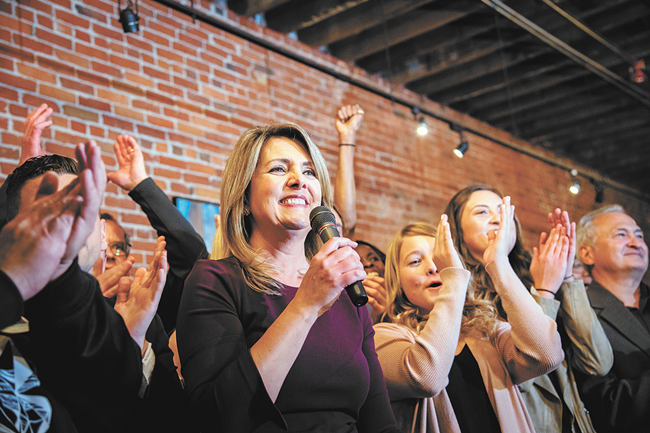 Anchor-turned-politician Nadine Woodward first won the mayor's office in 2019 and now our readers poll. - ERICK DOXEY PHOTO
