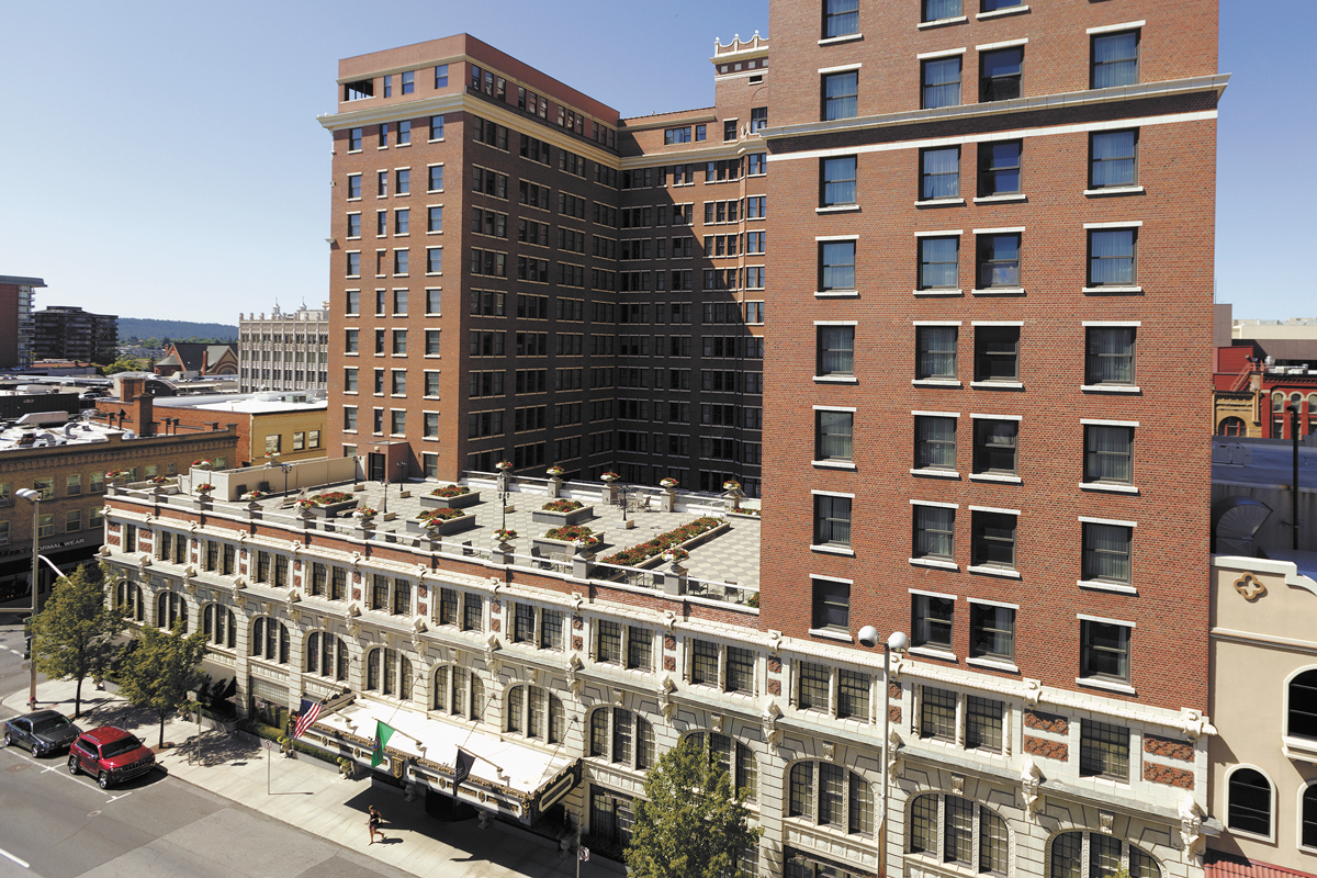 Still standing tall: The Historic Davenport Hotel. - YOUNG KWAK PHOTO