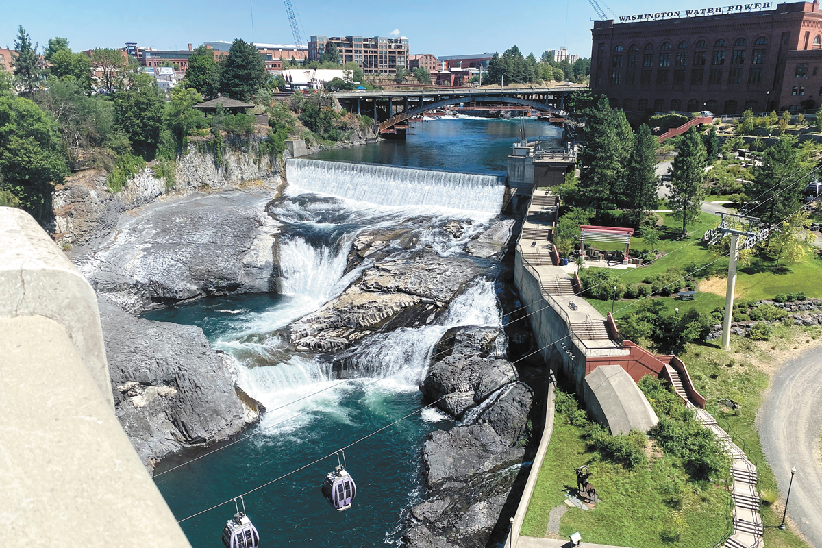 The Spokane River continues to be plagued with PCB pollution. - SAMANTHA WOHLFEIL PHOTO