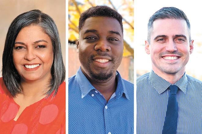 FROM LEFT: Naghmana Sherazi, Luc Jasmin III and Jonathan Bingle