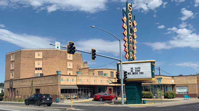 The historic cinema's marquee displayed this message for most of the past year and a half while closed. - COURTESY GARLAND THEATER