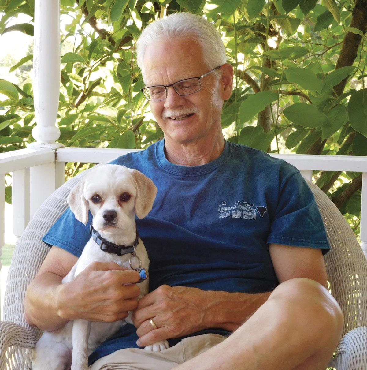 Bob Slack and his canine companion.