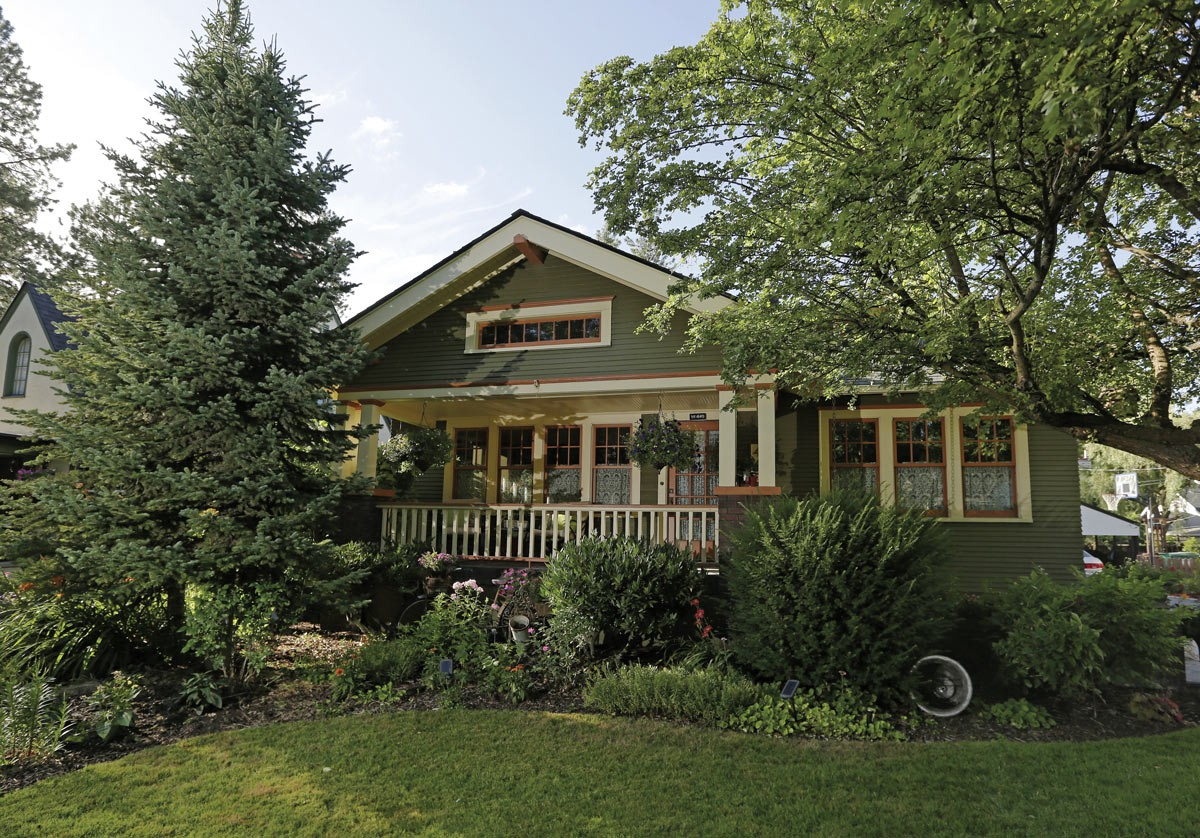 Megan Duvall's 1925 home on Spokane's South Hill features classic Craftsman style elements such as a wide, deep porch and square columns. - YOUNG KWAK PHOTO