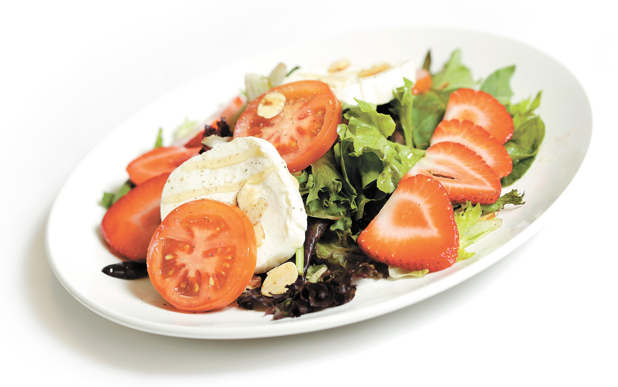 Strawberry caprese salad from The Melting Pot