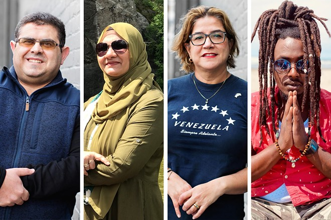 FROM LEFT: Abdulkareem Mahmoud, Zubia Roohi, Patricia Castaneda and Omy Karorero