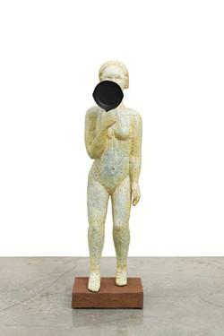 "Alison Saar's ""Mulatta Seeking Inner Negress, 2006"" from WSU's Mirror Mirror: The Prints of Alison Saar."