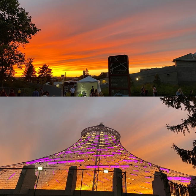 A spectacular natural light show helped warm up the audience as EVAN GIIA and Manila Killa performed ahead of Louis The Child. - SAMANTHA WOHLFEIL PHOTO