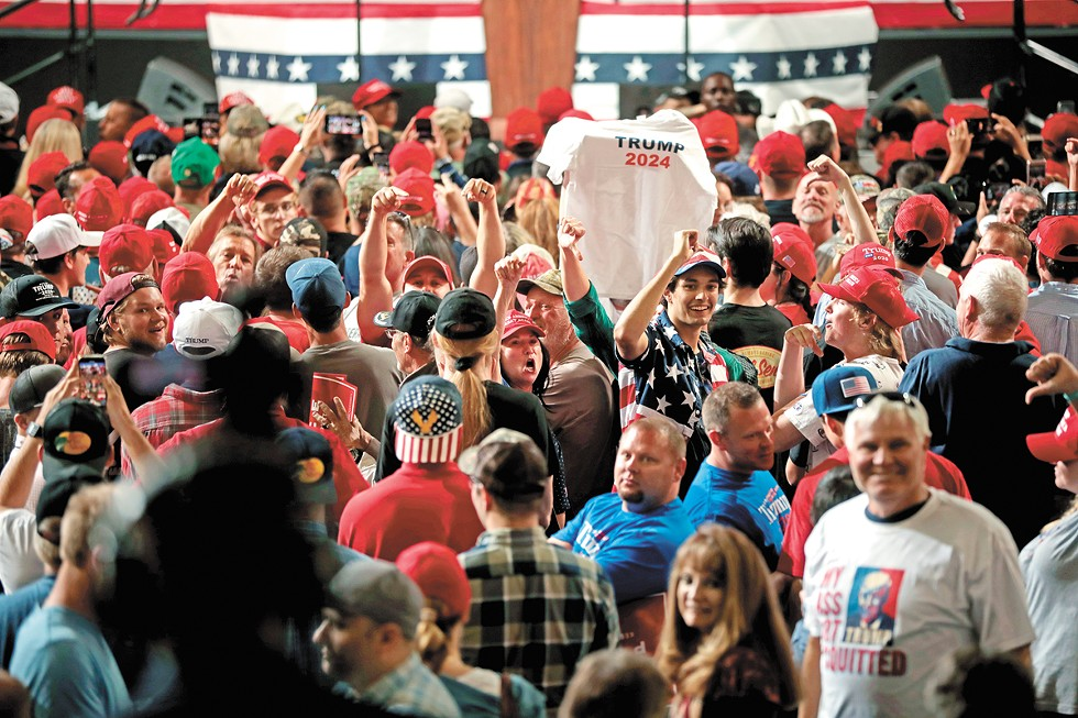 """Donald Trump supporters at a """"Keep America Great"""" rally in Phoenix in February 2020. - GAGE SKIDMORE PHOTO"""