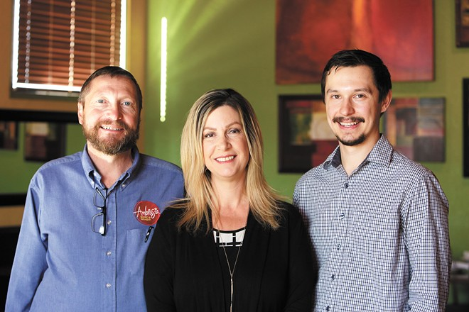 Ambrosia owners Scott and Kara Cook with their son/manager Tanner Cook. - YOUNG KWAK PHOTO